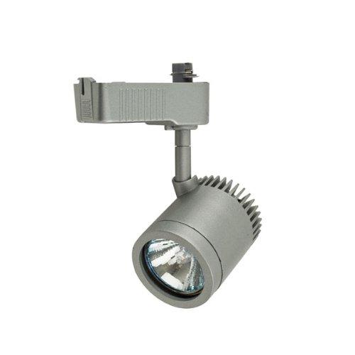 Artecta, New York-S, argent, avec adaptateur pour rail monophasé avec transformateur intégré. Pour ampoule MR16 12v max.50w GU.5.3. Ampoule non incluse.