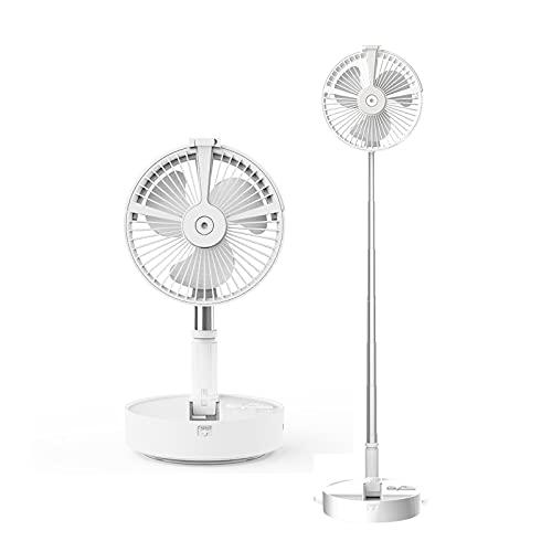 SZGR Ventilador de pie oscilante, 3 Niveles de ventilación, tamaño aspas 20 cm, Altura Regulable,Blanco,