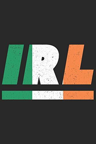 IRL: Irland Notizbuch mit blanko 120 Seiten in weiß. Notizheft mit der irische Flagge