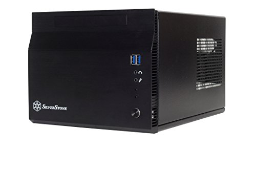 SilverStone SST-SG06BB-Lite - Sugo Mini-ITX Compact Computer Cube Case, nero