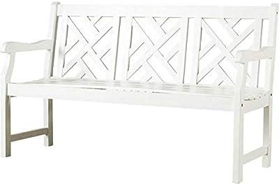 Phenomenal Amazon Com Pine Wood Chippendale Bench Natural Garden Lamtechconsult Wood Chair Design Ideas Lamtechconsultcom