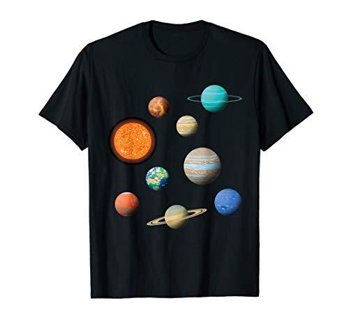 Weltraum All Galaxie Universum Sonnensystem & Planeten T-Shirt