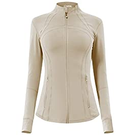 QUEENIEKE Women's Running Jacket Slim Fit and Cottony-Soft Handfeel Sports Tops with Full Zip Side Pocket