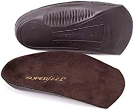 Superfeet Men's EASYFIT Orthotic Inserts for Flat Dress Shoes Heel and Arch Support Insole, Java, 9.5-11 Men