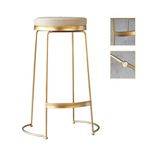 Smeedijzeren barstoel persoonlijkheid creatieve bartafel en stoel gouden hoge stoel café woonkamer, kan 100 kg dragen