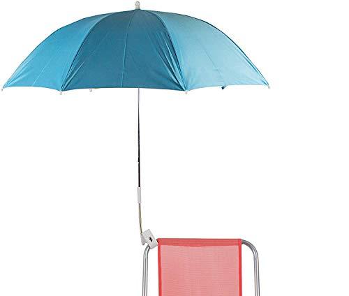 H HANSEL HOME Sombrilla para Silla Playa 120cm Protección UV - Azul