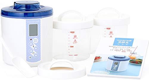TANICA ヨーグルティアS ガラス容器セット (ブルー) 温度調節(25~70℃) ・タイマー・ブザー付ヨーグルトメーカー 1200ml YS-01G-B