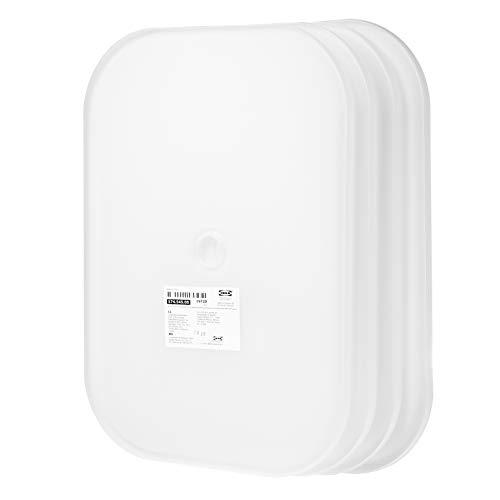 Ikea TroFAST - Tapa de plástico (40 x 28 cm, 4 unidades), color blanco