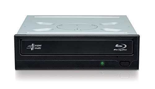 Hitachi-LG BH16NS55 Interner Blu-Ray-Disc-Brenner mit 16-facher Brenngeschwindigkeit und umfassender Formatunterstützung (BD-R BDXL DVD-RW CD-RW), Silent Play, Windows 10 kompatibel