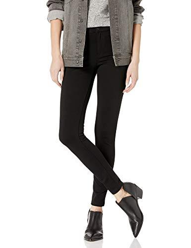 Celebrity Pink Jeans Women's Power Ponte Mid Rise Super Skinny, Black, 1