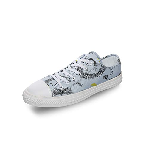RNGIAN Damen Leinen Canvas Schuhe Cute Sport Loafers für Erwachsene, Weiß - weiß - Größe: 37 EU