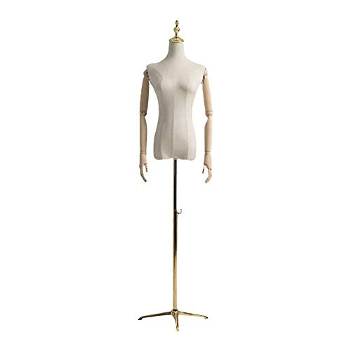 Schneiderpuppe Weiblich verstellbar Weibliche Kleiderfo Mannequin Körpertorso Damenbekleidung Display-Profi schneiderbüste ständer (Color : B, Size : Medium)