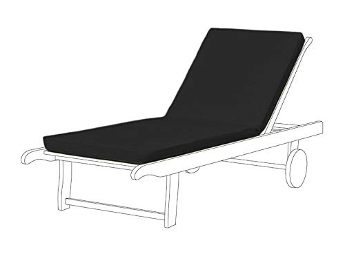 Cojín reclinable para silla de jardín, Resol Master Chair Pad de repuesto para tumbonas Marina (paquete de 2, negro)