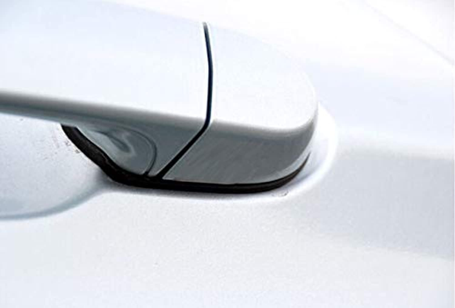 Carbon Fiber Car Styling Side Door Handle Cover with LED Hole Trim for BMW E84 X1 4Door 20122015  (color Name  No Led Hole)