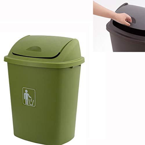 CSLOKTY MüLleimer 25L / 40L / 50L / 70L High Grade Kunststoff Swing-Bin Midnight Black Farbe Abfall Recycling Recycling-Container Klappdeckelbox Deckel Mülltonne C-25L