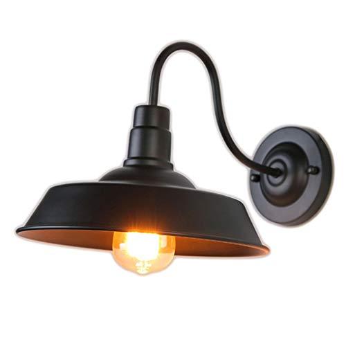 Kmgjc Lámparas De Pared Retro Aplique De Negro Luces De Iluminación Industrial Vintage Casa De Campo Led Porch Light para Baño Interior (Color : Negro)