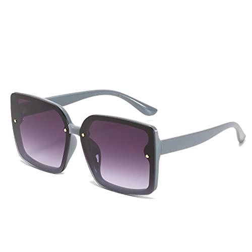 Gafas De Sol De Moda Unisex Gafas De Sol Cuadradas Moda para Mujer Conciso Marco Grande para Dama Gafas Vintage Gafas De Sol Retro Gafas Fiesta Uv400