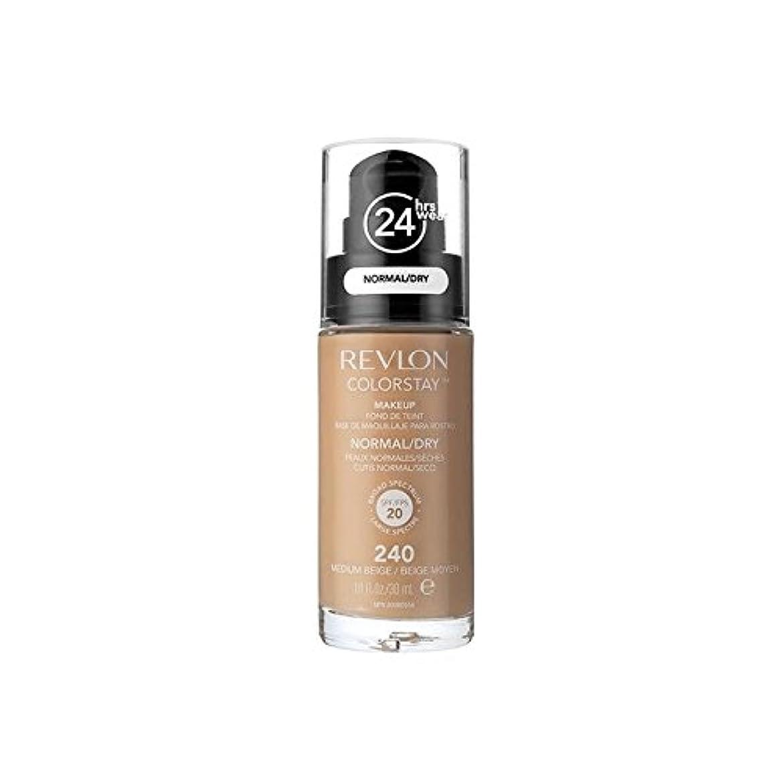 先入観アシスタントリラックスレブロンの基礎通常の乾燥肌メディアベージュ x2 - Revlon Colorstay Foundation Normal Dry Skin Medium Beige (Pack of 2) [並行輸入品]