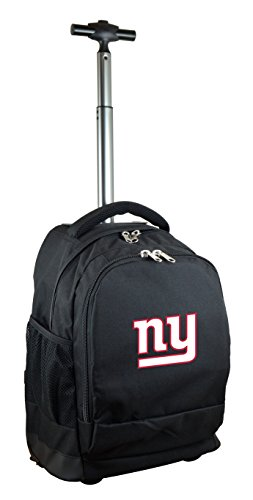 NFL New York Giants Expedition Wheeled Backpack, 19-inches, Black
