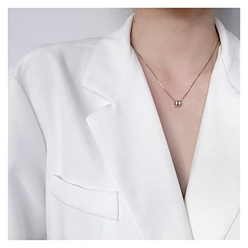 SFQRYP Collar de Plata esterlina Pequeña Cintura Luz de Lujo 2021 señora de la Moda (Length : 45cm)