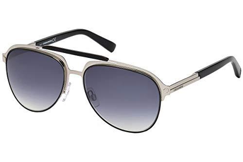 DSQUARED2 Unisex-Erwachsene DQ0283 14C 58 Sonnenbrille, Grau (Rutenio Chiaro Luc/Fumo Specchiato)