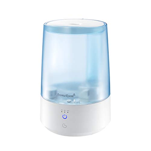 Cool Mist Humidifiers for Bedroom, Top Fill Humidifier for Kids, 3L Air Humidifier Diffusers for Home Office, Ultrasonic Humidifier Vaporizer with Adjustable Mist Output,Auto Shut Off, Blue