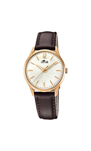 Lotus Watches Reloj Análogo clásico para Mujer de Cuarzo con Correa en Cuero 18407/1
