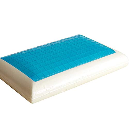 Pinellia Almohada de Memoria Almohada de hidrogel en Forma de Pan Almohada Cervical Almohada de Memoria de Rebote Lento, Blanco, 40 * 70 * 13 cm