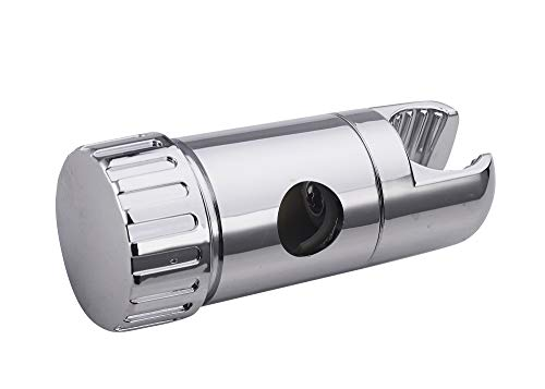 EISL DXZ-03 Gleitschieber Brausehalter für Duschstange, Schieber für Wandstange 18 mm, Kunststoff verchromt, Chrom