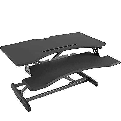 Standing Desk with Height Adjustable – FEZIBO Stand Up Desk Converter, 34...
