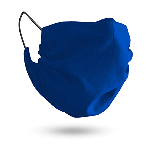 MASHELE XL Fashion Face and Beard Protection Reusable Cloth Covering for Bearded Men Made in USA (Extra Large Blue)