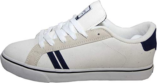 Emerica Skateboard Schuhe Leo SMU White/Grey/Navy - Sneaker Sneakers Skateboard Shoes, Schuhgrösse:42