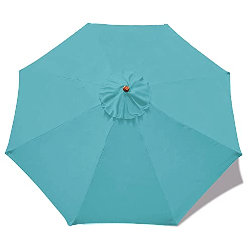 MASTERCANOPY 9ft Patio Umbrella Replacement Canopy Market Table Umbrella Canopy with 8 Ribs
