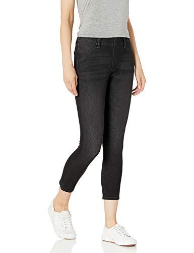 Amazon Essentials Pull-On Knit Capri Jegging Pantaloni, Dark Wash, L