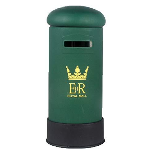 Kassa MYKK Retro Kindermunten Kassa Desktop Geldpot Metalen Pennenhouder Brievenbus Geschenkornamenten 15 * 7cm groen