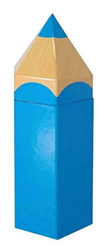 Idena 31417 - Geschenkbox Stift, Größe 104x9x27 cm, Blau, Geschenkverpackung, Schulanfang, Stiftebox, 1. Schultag, Einschulung