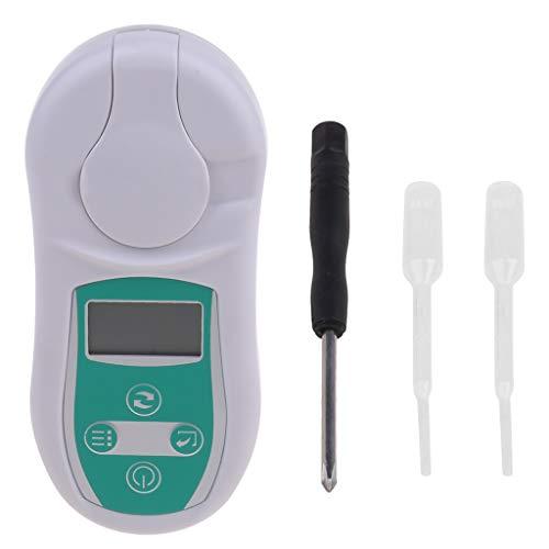 Haijun Digitale Brix-Refraktometer Zuckersaft Honigbier Brix Refraktometer Schneidflüssigkeit Zuckertests 0-53% Temperaturkompensation