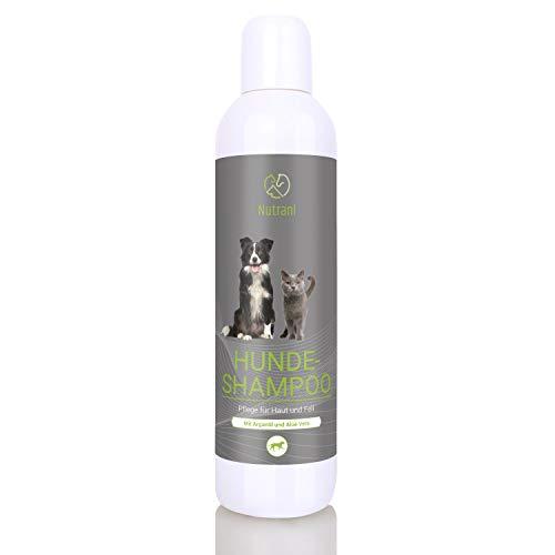 Nutrani Hundeshampoo mit Arganöl und Aloe Vera – Pflegendes Hunde Shampoo für Sensible Haut und glänzendes Fell – pH-neutral, feuchtigkeitsspendend und rückfettend | 200 ml