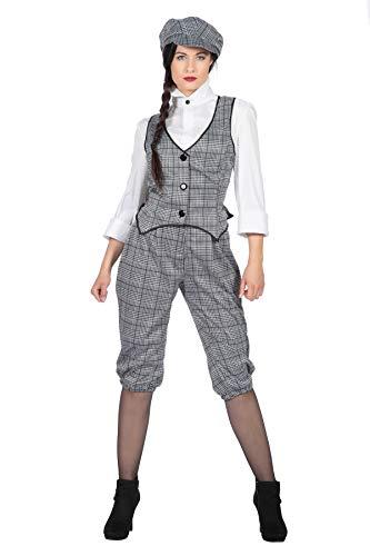 Peaky Blinders - Traje de glencheck para mujer, diseño de los años 20, color blanco y negro, talla 36
