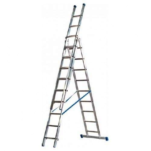 Eurostairs Reform ladder driedelig recht 3x9 sporten