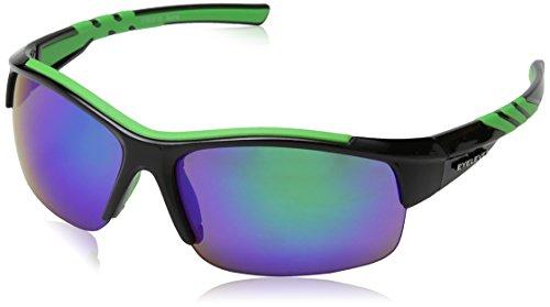 Eyelevel Meteor Gafas de sol deportivas, Black (Black/Green), Talla única para Hombre