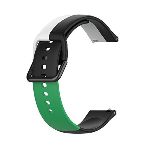 Katyma Pulseira de reposição de 22 mm, silicone universal respirável de três cores compatível com Samsung para Huawei para Amazfit para Xiaomi para Garmin para Fossil para Ticwatch