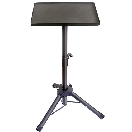 """GLEAM Laptop Stand - Projector Stand DJ Rack Tripod Up to 40"""" for Computer, Book, DJ Equipment"""