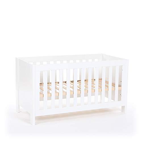 babybay Kinder-, Baby- und Beistellbett All in One 70x140, weiß lackiert