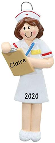 Nurse Personalized Christmas Tree Ornament | Custom Writing Nurse Personalized Ornaments 2020