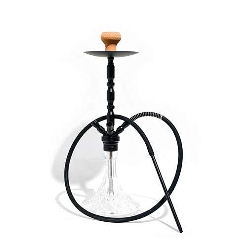 N\C 4 Schlauch Shisha Shisha 65cm Sheesha Narghile Shisha Set mit Shisha Bowl Lederschlauch Kohlenzange Aluminium Stiel