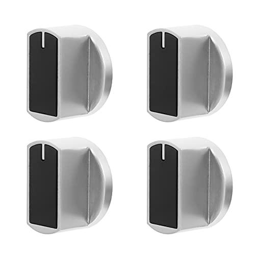 Angoily 4 Unidades de Perillas de Control de Quemador Perillas Redondas para Estufa de Gas Perillas para Horno de Cocina Interruptor de Control de Cocina Reemplazo para Cocina Eléctrica