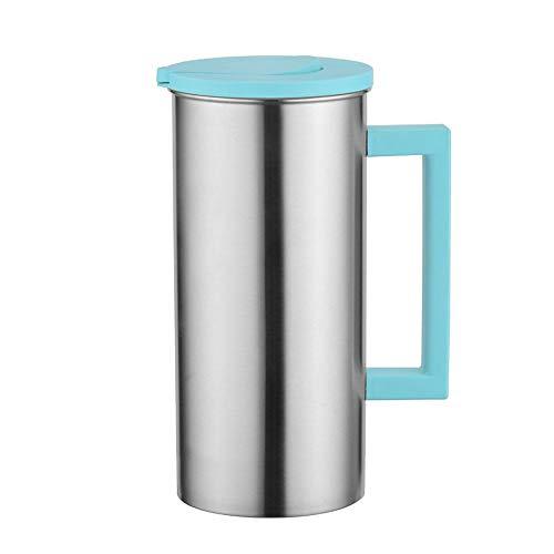 Water Pitcher kruik karaf theepot, met deksel, hoge capaciteit roestvrij staal geschenk voor het serveren van water, sap, ijsthee en andere koude dranken, 1.8L Groen