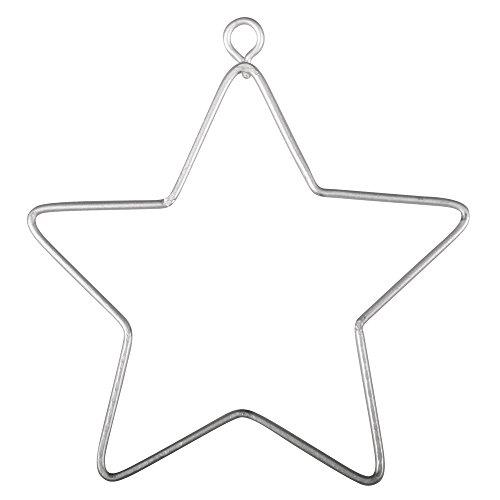 Rayher 24091000 Draht Sterne, 7 x 8 cm, 3 Stück, Sterne aus Metalldraht, Drahtsterne, Form zum Umwickeln, Basteln, Dekorieren