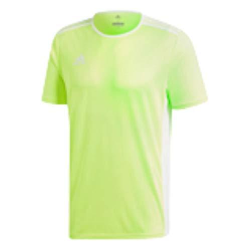 adidas Entrada 18 - Camiseta de entrenamiento - F1706GHTM111, playera Entrada18, Medium, Solar amarillo/blanco